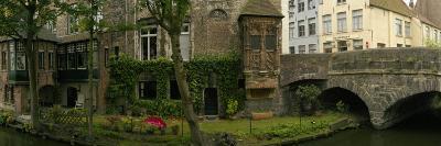 Buildings Along Channel, Bruges, West Flanders, Belgium