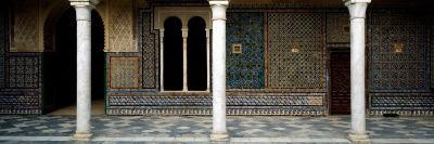 Colonnade in a Palace, Casa De Pilatos, Seville, Seville Province, Andalusia, Spain