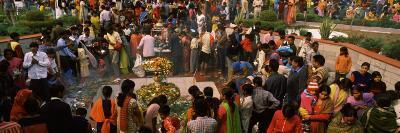 Devotees Worshipping in a Temple on Shivratri Festival, Delhi, India