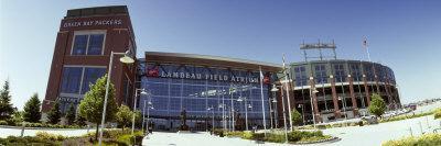 Facade Of A Stadium Lambeau Field Green Bay Wisconsin