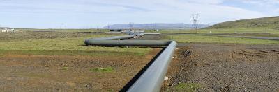 Hot Water Pipeline on a Landscape, Reykjavik, Iceland