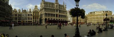 People Relaxing in a Market Square, Grand Place, Brussels, Belgium