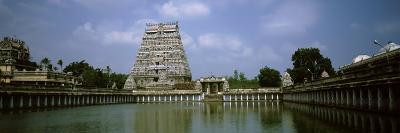 Pond in Front of a Temple, Chidambaram Temple, Chidambaram, Cuddalore District, Tamil Nadu, India