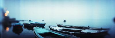 Rowboats in a River, Ganges River, Varanasi, Uttar Pradesh, India