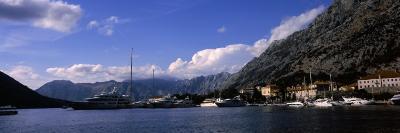 Ship and Boats in a Bay, Kotor Bay, Kotor, Montenegro