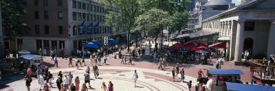 Tourists in Market, Faneuil Hall Marketplace, Quincy Market, Boston, Suffolk County, Massachusetts