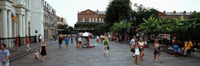 Tourists Walking on a Street, Riverwalk Area, New Orleans, Louisiana, USA