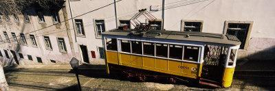View of a Cable Car, Elevador Da Gloria, Lisbon, Portugal