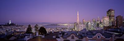 View of a Cityscape from Nob Hill, San Francisco, California, USA