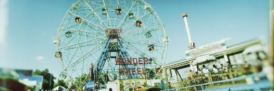 View of a Ferris Wheel, Wonder Wheel, Coney Island, Brooklyn, New York City, New York State, USA