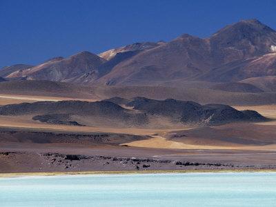 Aquamarine Waters of Laguna Tuyajto, Atacama, Chile