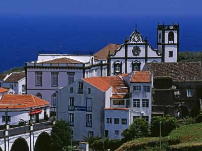 Church Tower Dominates the Town of Nordeste on the Island of Sao Miguel, Azores