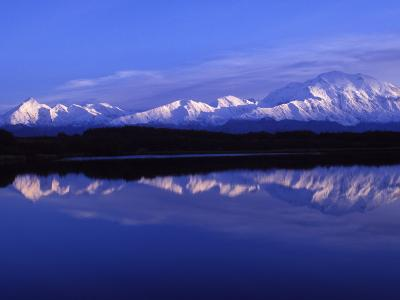 Mount Mckinley from Reflection Lake, Denali National Park, Alaska, USA