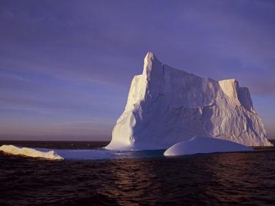 Bransfield Strait, Iceberg at Sunset, Antarctica