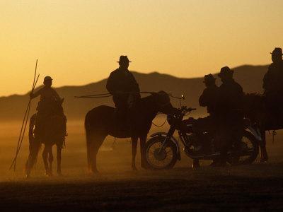 Horse Herders Returning Home after a Horse Festival in Karakorum, Hangai Province, Mongolia
