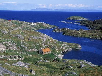 East Coast of Harris Looking over Minch Towards Mull