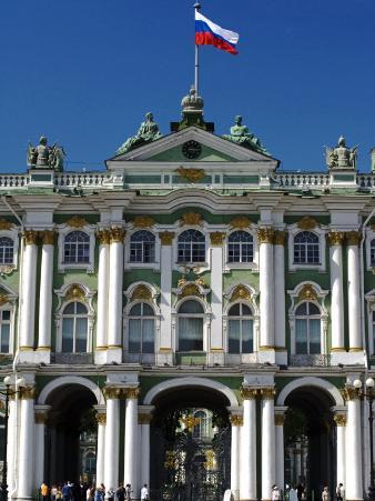 St Petersburg, Main Entrance to the Saint Hermitage Museum or Winter Palace, Russia