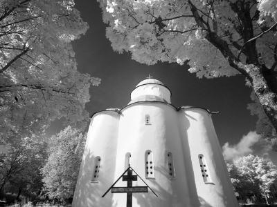 Infrared Image of Church of Assumption of Our Lady, Uspensky Convent, Staraya Ladoga, Russia