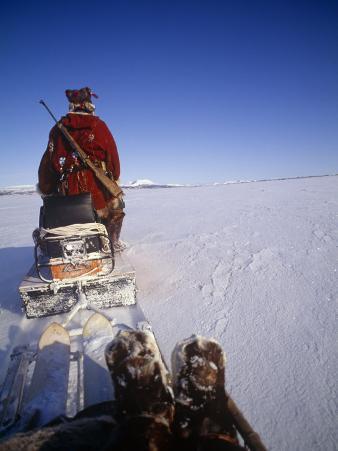 Kamchakta, Crossing the Winter Tundra on a Snowmobile, Palana, Kamchatka, Russian Far East, Russia