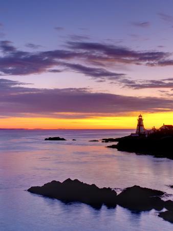 New Brunswick, Campobello Island, East Quoddy Lighthouse, Canada