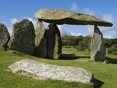 Wales, Pembrokeshire, the Site of the Ancient Neolithic Dolmen at Pentre Ifan, Wales's Most Famous