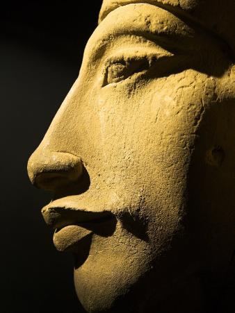 Bust of the 18th Dynasty Pharoah Akhenaten in the National Museum in Alexandria, Egypt