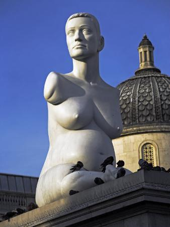 Controversial Sculpture Alison Lapper Pregnant by Mark Quinn Inf Trafalgar Square, London