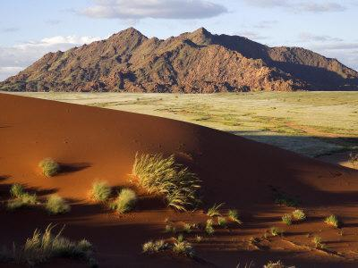 View of Naukluft Mountains from Elim Dune Near Sesriem in Namib-Naukluft National Park, Namibia