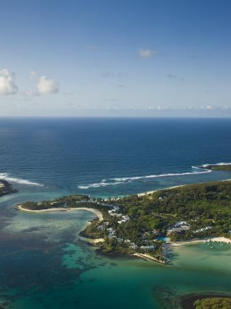 Southern Mauritius, Aerial View of Blue Bay Hotel Area, Mauritius