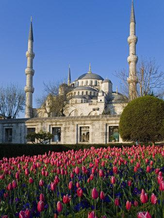 Blue Mosque, also known as the Sultanahmet Mosque, Gives its Name to the Surrounding Area