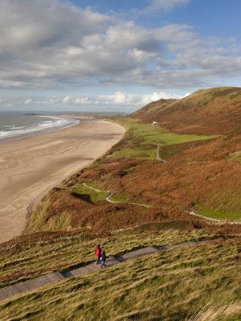 Wales, Glamorgan, Gower Peninsula, Rhossilli Bay, UK