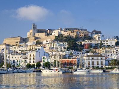 Eivissa or Ibiza Town and Harbour, Ibiza, Balearic Islands, Spain