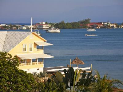 Bay Islands, Utila, View of Bay, Honduras