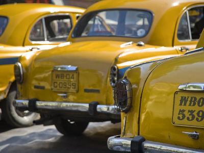 West Bengal, Kolkata, Calcutta, Yellow Ambassador Taxis, India