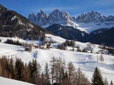 St, Magdalena Village and Church, Dolomites Mountains, Trentino-Alto Adige, South Tirol, Italy