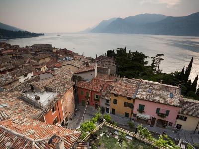 Veneto, Lake District, Lake Garda, Malcesine, Town View from Castello Scaligero Castle, Italy