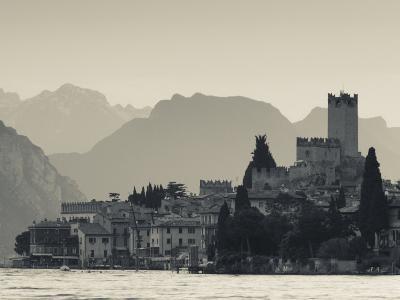 Veneto, Lake District, Lake Garda, Malcesine, Lakeside Town View, Italy
