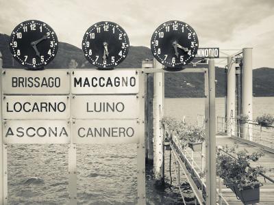 Piedmont, Lake Maggiore, Cannobio, Lake Ferry Timetable, Italy
