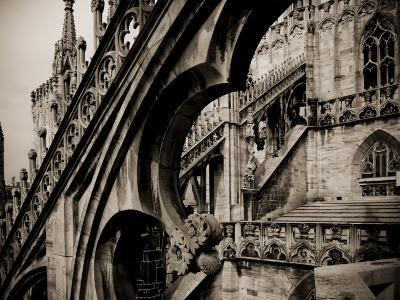 Lombardy, Milan, Piazza Duomo, Duomo Cathedral, Roof Detail, Italy