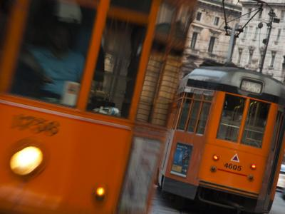Lombardy, Milan, Piazza Cordusio, Trams, Italy