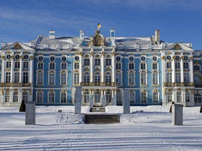 St Petersburg, Tsarskoye Selo, Catherine Palace Was Commissioned by the Empress Elizabeth, Russia