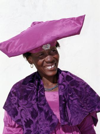Herero Woman in Traditional Attire, Namibia