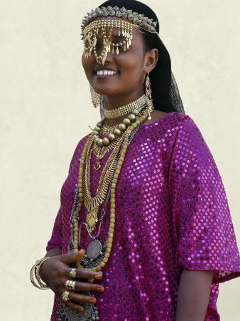 Afar Girl from Sultanate of Tadjoura Wears Exotic Gold Jewellery for Marriage