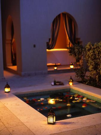 Four Seasons Resort Hotel, Plunge Pool in Private Outdoor Area of the Spa at Night
