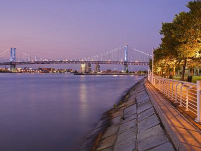 Camden Waterfront and Ben Franklin Bridge, City of Camden, New Jersey