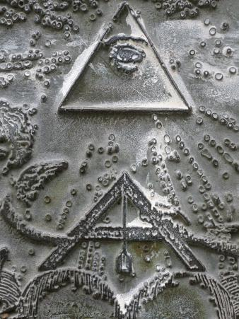 Masonic Symbols of Angle Bracket and Delta at the Human Right Monument in the Paris Champ De Mars