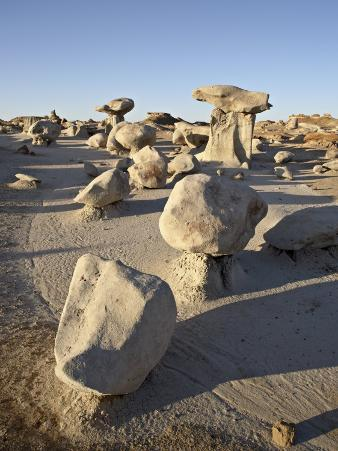 Boulders and Hoodoos at First Light, Bisti Wilderness, New Mexico