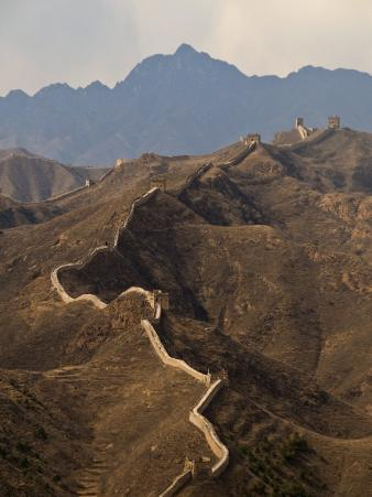 View of a Section of the Great Wall, Between Jinshanling and Simatai Near Beijing