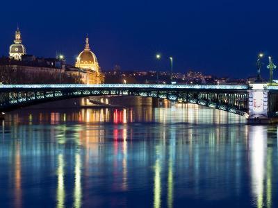 Pont De L'Universite, River Rhone, Lyon, Rhone Valley, France, Europe
