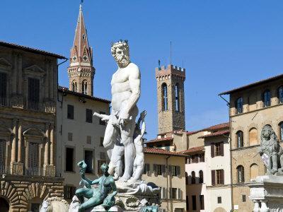 The Neptune Statue, Piazza Della Signoria, Florence, Tuscany